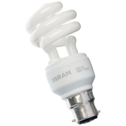 Osram  CFL Mini Spiral Light Bulb - 15W BC