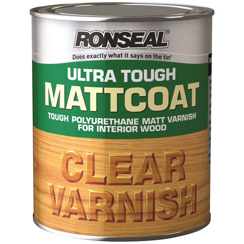 Ronseal  Ultra Tough Varnish Matt - 750ml