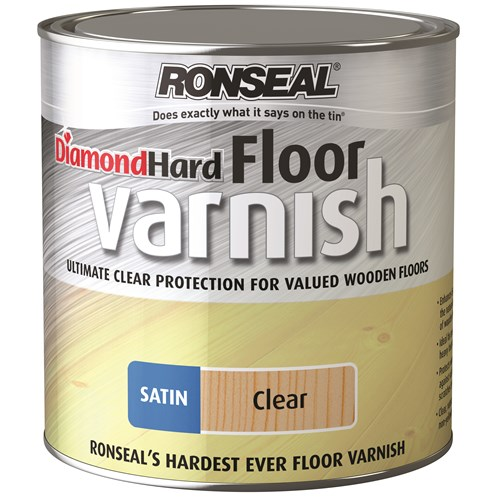 Ronseal  Diamond Hard Floor Varnish Satin - 2.5 Litre