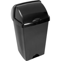 Addis  Roll Top Bin Black - 48 Litre