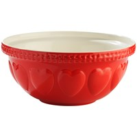 Mason Cash  Hearts 29cm Mixing Bowl - Red