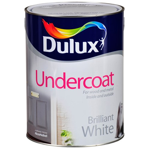 Dulux  Undercoat Brilliant White Paint - 5 Litre