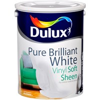 Dulux Vinyl Soft Sheen Pure Brilliant White Paint - 5 Litre