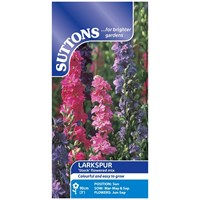 Suttons  Larkspur Stock Flowered Mix Flower Seeds