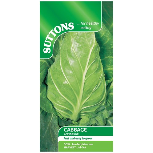 Suttons  Cabbage Greyhound Vegetable Seeds