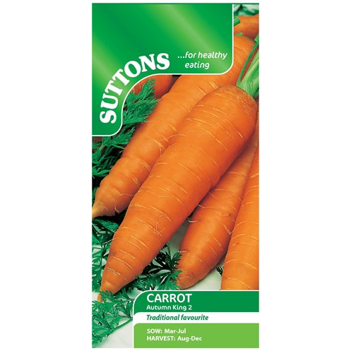 Suttons  Carrot Autumn King 2 Vegetable Seeds
