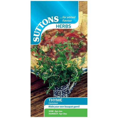 Suttons  Thyme Common Vegetable Seeds
