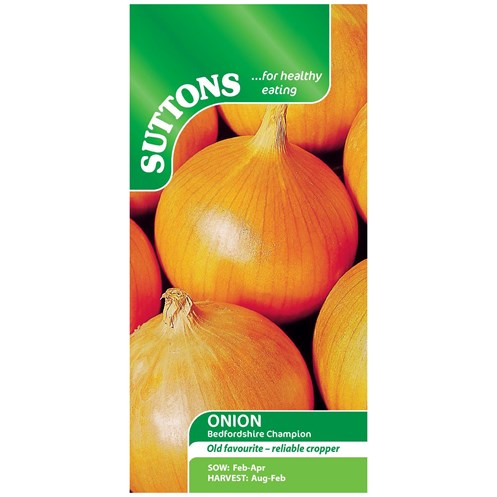 Suttons  Onion Bedfordshire Champion Vegetable Seeds