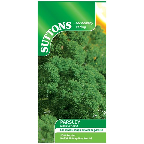 Suttons  Parsley Moss Curled 2 Vegetable Seeds