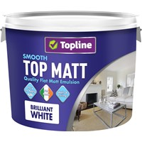 Topline  Smooth Top Matt Brilliant White Paint - 10 Litre