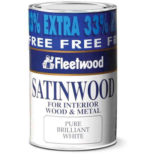 Fleetwood Traditional Satinwood Paint - 750ml + 33% Extra Free
