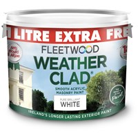 Fleetwood  Weather Clad Pure Brillant White 9L + 1L Free