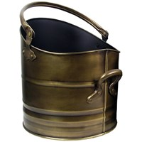 Sirocco The Collection Coal Bucket Antique Brass Finish - 30cm