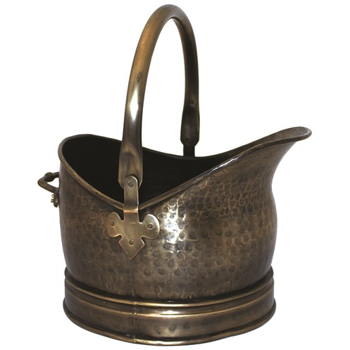 Sirocco The Collection Coal Bucket Antique Brass Finish - 25cm