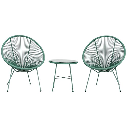 Monaco Egg Chair Set Green