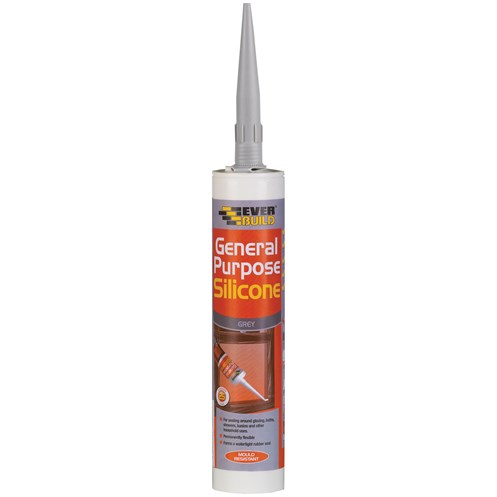 Everbuild  General Purpose Silicone 310ml - Grey