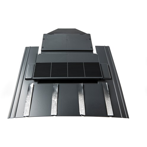 Tegral  TPV11 Nature Slate Vent with Pipe Adaptor 60 x 30cm - Grey