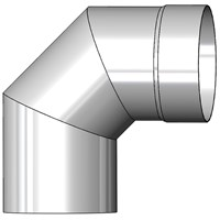 Mi-Flues System 1 Single Wall Flue Pipe for Multi-Fuel with 90° Bend